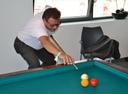 Peter Rath elegant beim Billardspiel